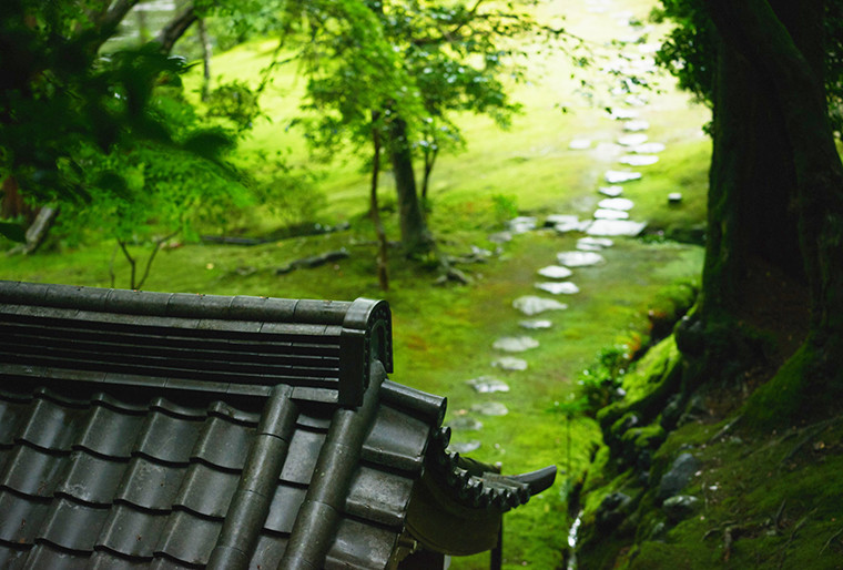 Moss Temple roof and stone walk.jpg