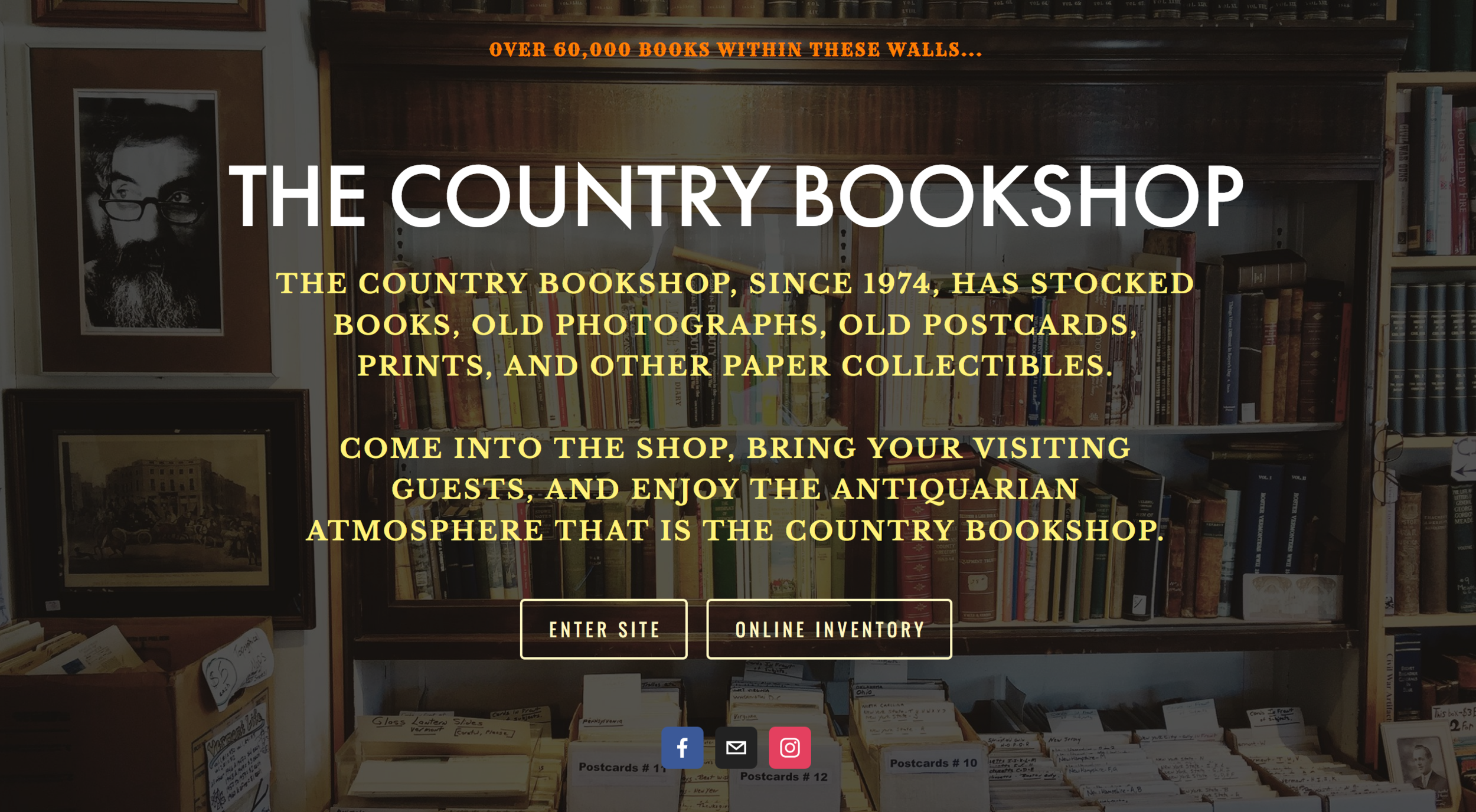 Hoping this site  reads like a book .     The Country Bookshop