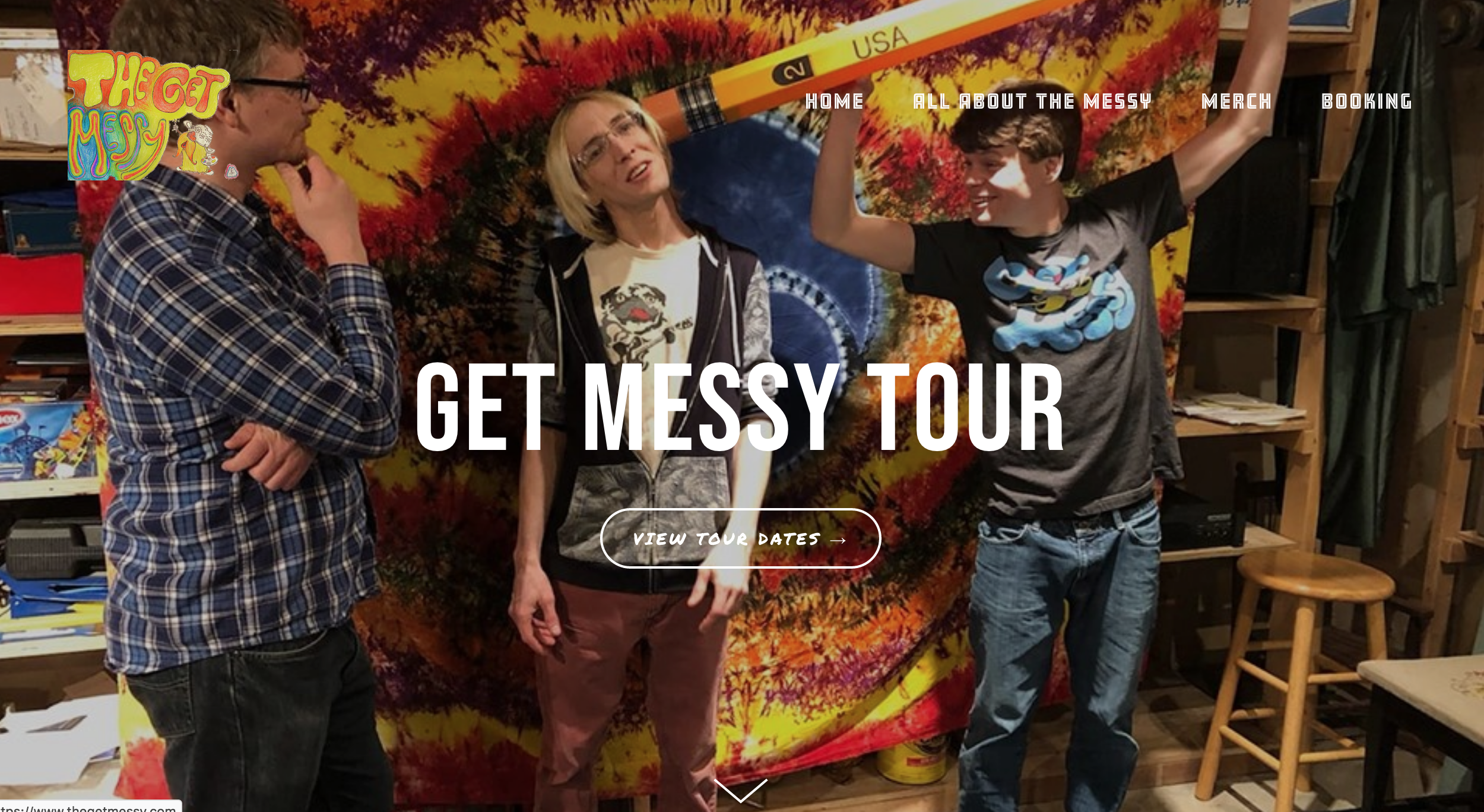 A  dirty band  needs a tidy website.  The Get Messy