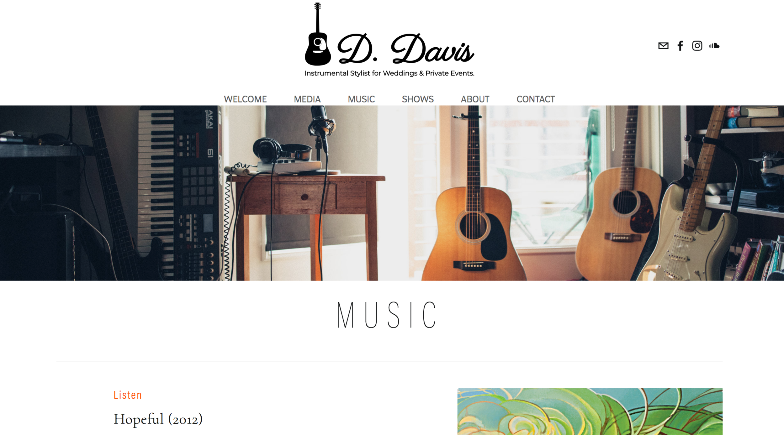 This  harmonious  website is  music to my eyes .  D Davis