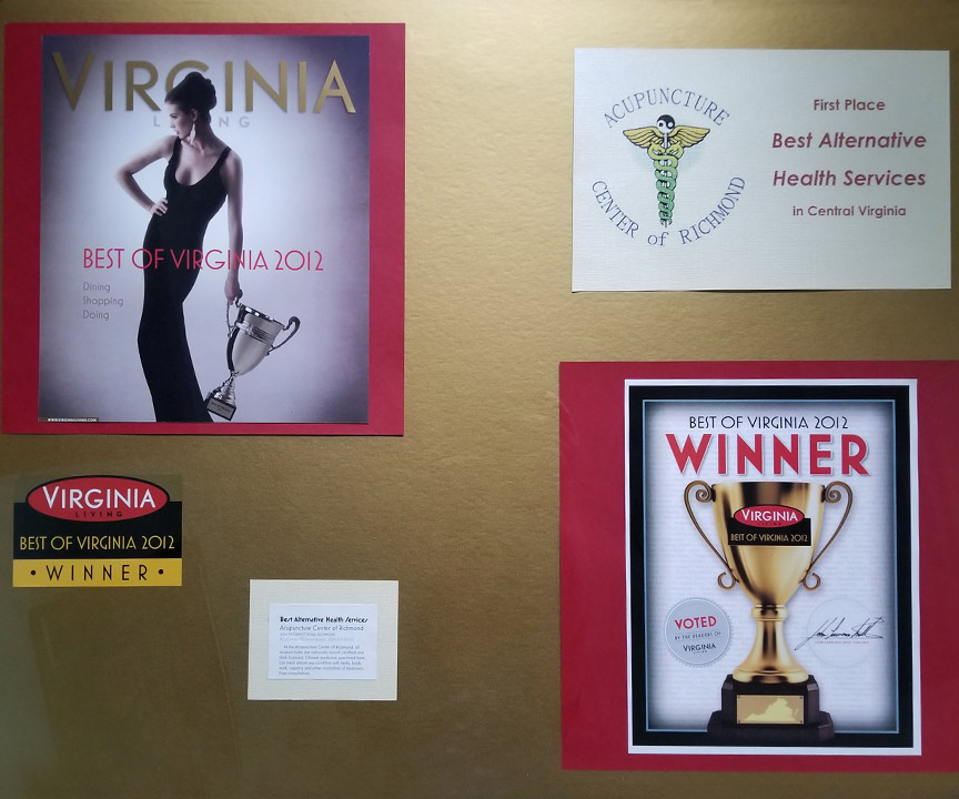 2012 Remee's Acupuncture wins Style Weekly's Best of Richmond:Best Alternative Health Services