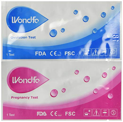 Wondfo Combo Ovulation and Pregnancy Tests - Value Pack of 50 Ovulation Test Strips and 20 Pregnancy Test Strips