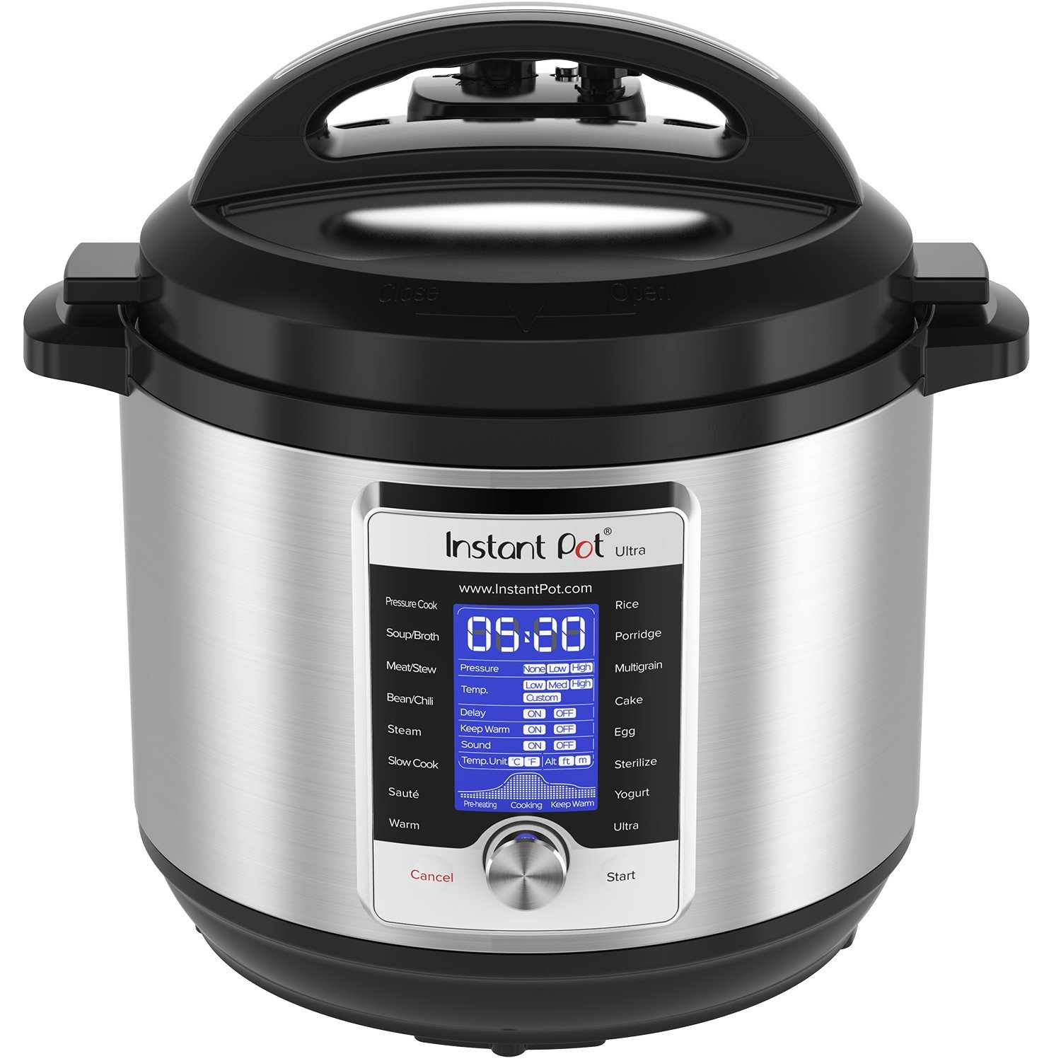 Instant Pot Ultra 8 Qt 10-in-1 Multi- Use - Replaces 10 common kitchen Appliances - pressure cooker, slow cooker, rice/porridge cooker, yogurt maker, cake maker, egg cooker, sauté/searing, steamer, warmer, and sterilizerDeveloped with the latest 3rd generation.
