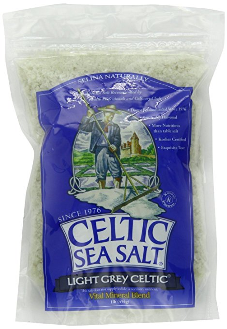 Light Grey Celtic coarse sea salt, 1 lb. bag - Pack of 2 - Quality Certified / Exquisite Taste