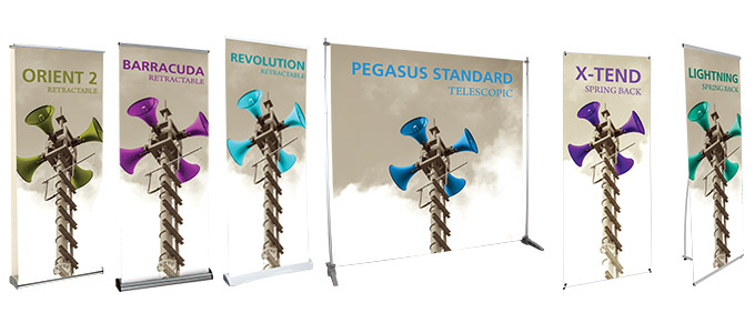 Get your message out there with affordable, eye-catching banner stands from Cap City Repro! Whether for a critical trade show, a busy promotional event, or any other advertising venue, here's where you'll find the perfect banner stands that get your message seen and remembered!