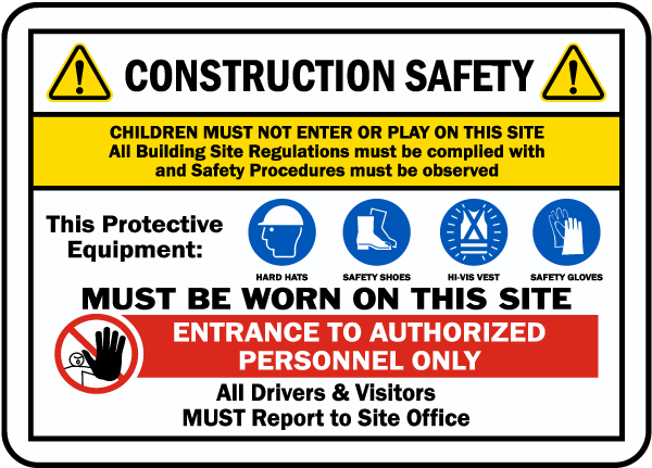 Keep workers, passersby and traffic in and around your construction zone safe at all times. Create an accident-free work zone with construction site signs.
