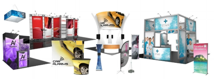 Cap City Repro offers one of the widest ranges of portable display products, fabric structures, modular exhibit solutions, display accessories and related graphics. From portable signs, popup displays, tension fabric displays to literature racks, lighting, display cases and more, Cap City Repro is a one-stop-shop for all types of exhibit and display solutions.