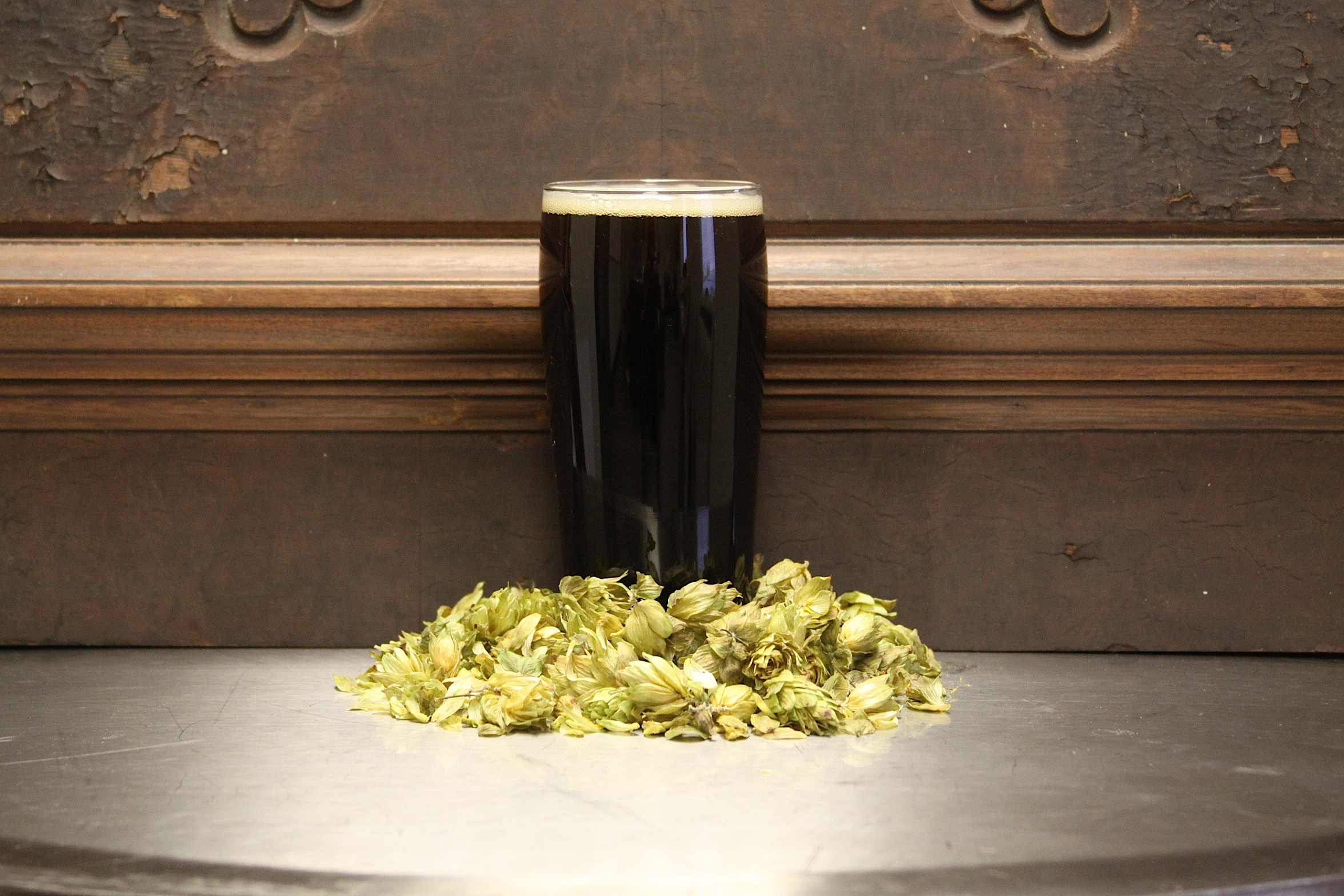* Our Hurst Haus Brown is named after one of our brewers,Steve Hurst, who is a mastermind of beer recipes. We have decided to brew this as a winter beer, but may have to keep it around for a little longer. Stay tuned.