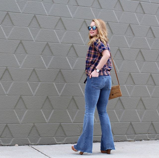 My bell bottoms and plaid top are the perfect nod to the best decade...the 70s! I kinda feel like I stepped right out of Dazed and Confused and I love it!  @liketoknow.it http://liketk.it/2DZFk #liketkit #trustyourcloset #LTKstyletip #LTKsalealert #LTKunder100