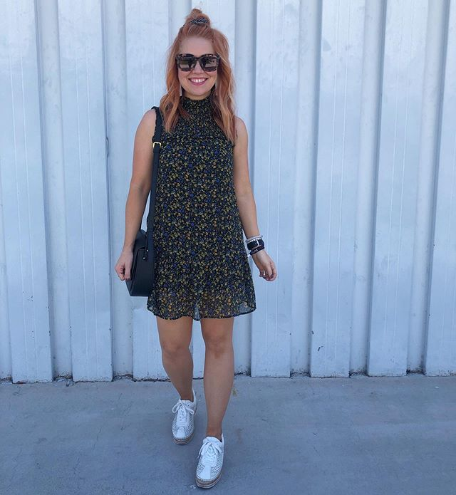 Frocking Friday! 🖤😎🖤 This frock is only $25! Check it out at the link in my bio and here 👉🏼 http://liketk.it/2EcN6 @liketoknow.it #liketkit #trustyourcloset #ootd #LTKstyletip #targetstyle #stylemarc #frockfriday #floralfriday