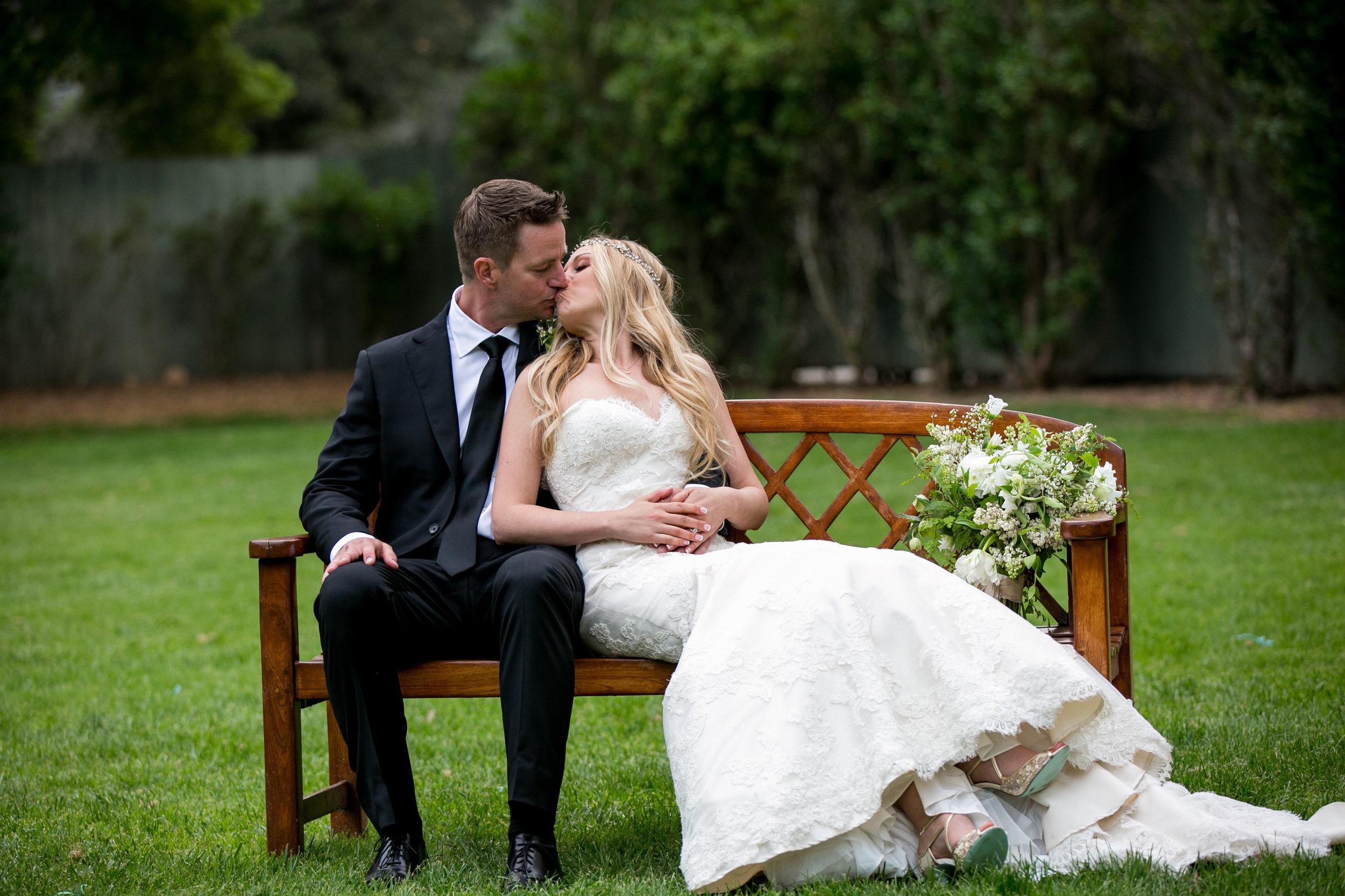 Ojai Valley Inn bride and groom