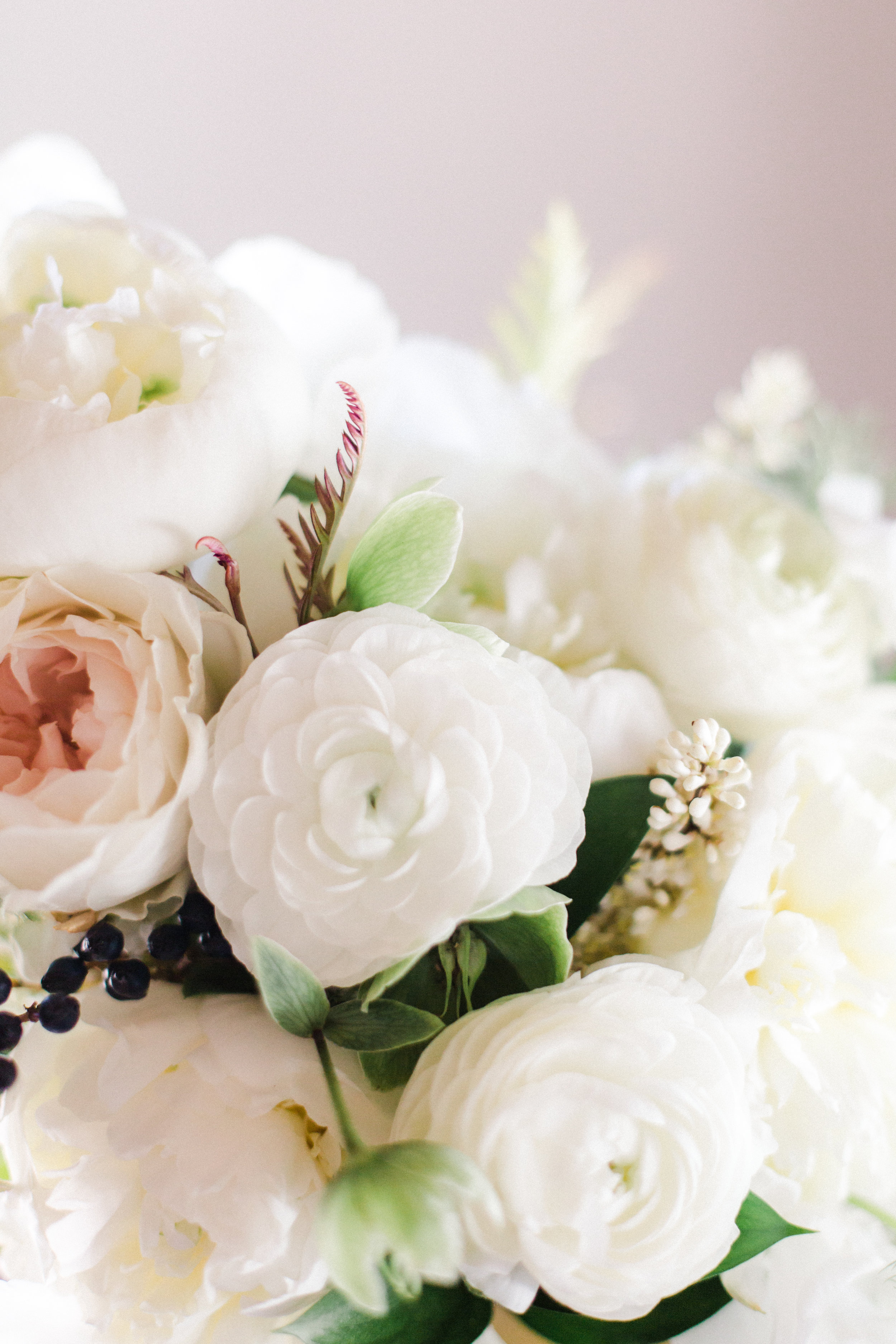 soft neutral florals