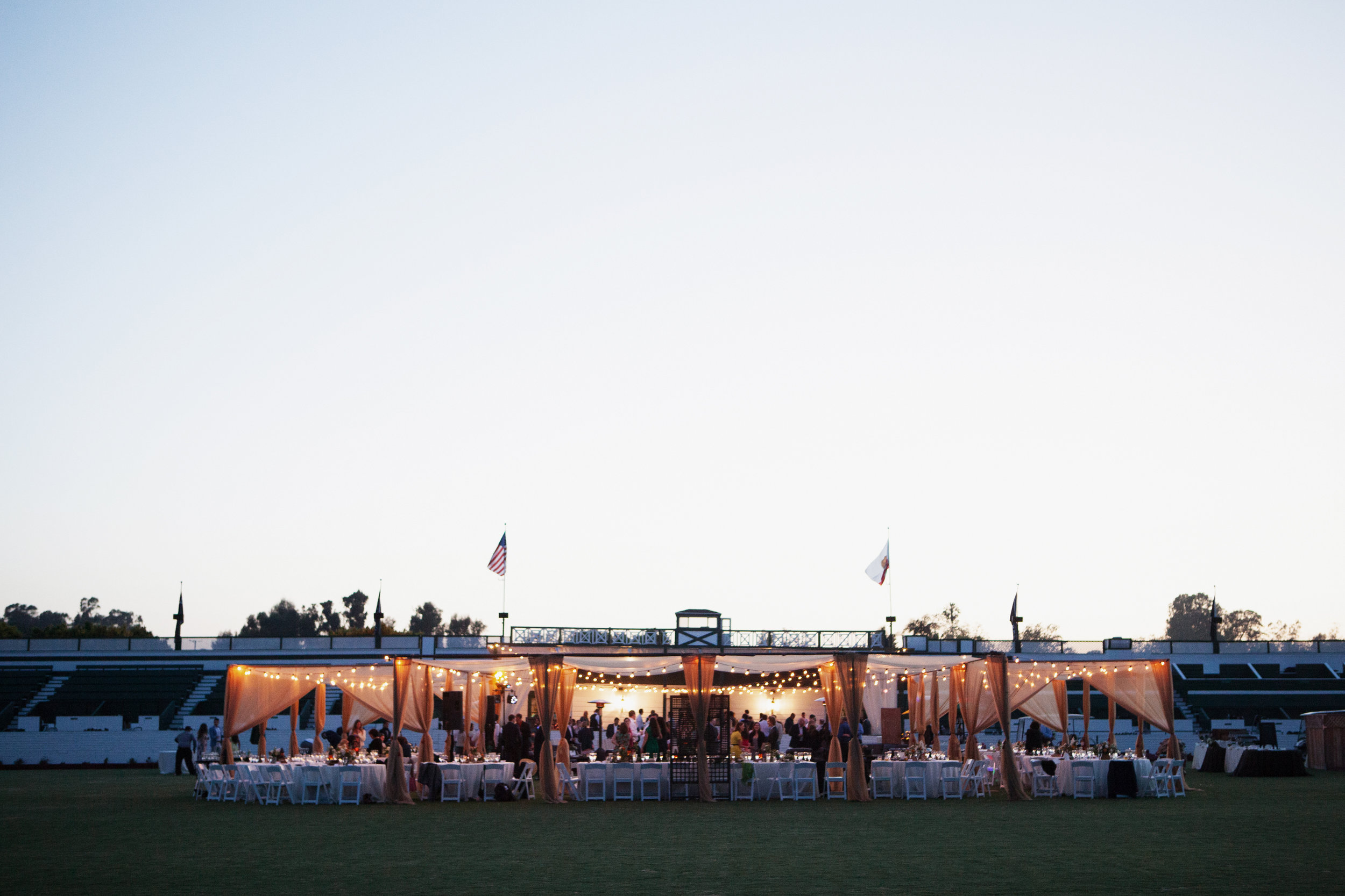 Santa Barbara Polo Club tented reception