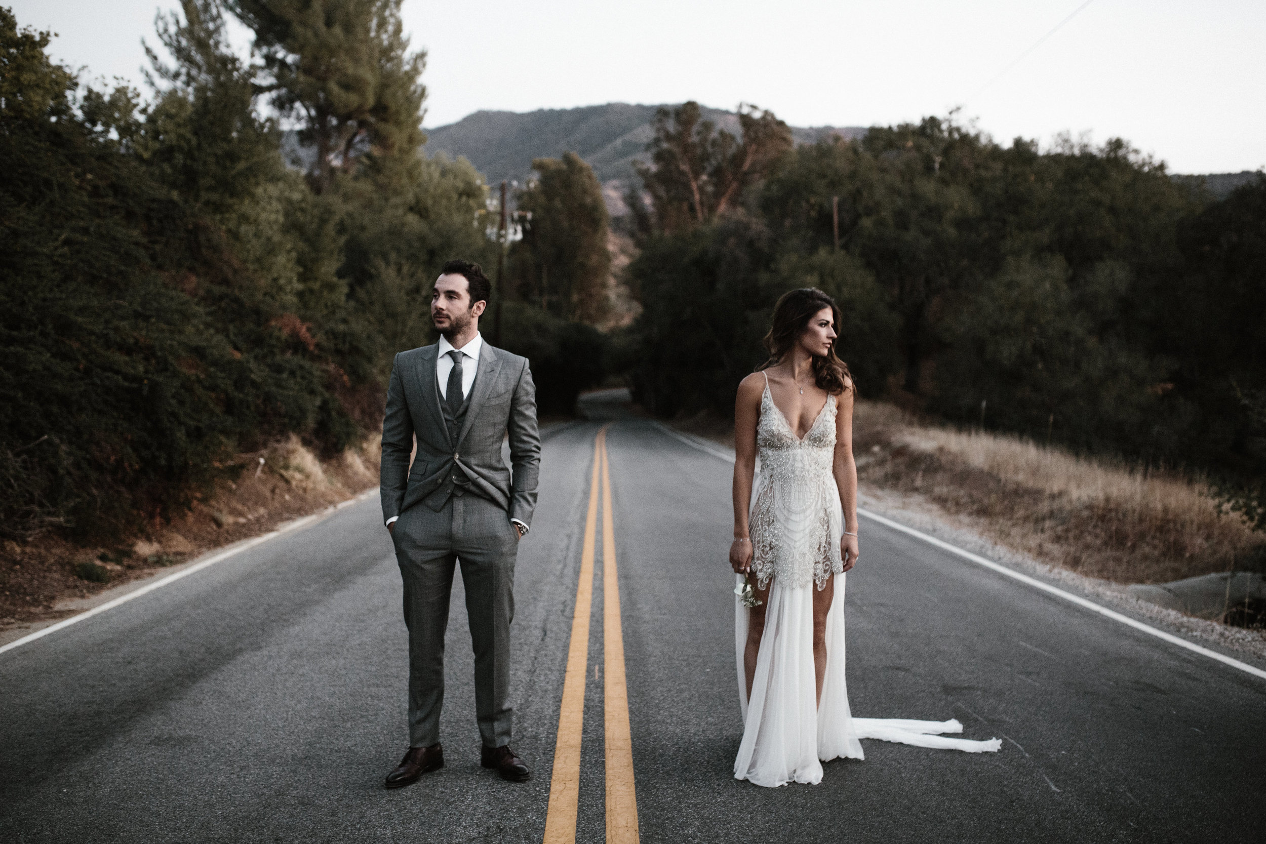 Ojai Valley bride and groom portrait