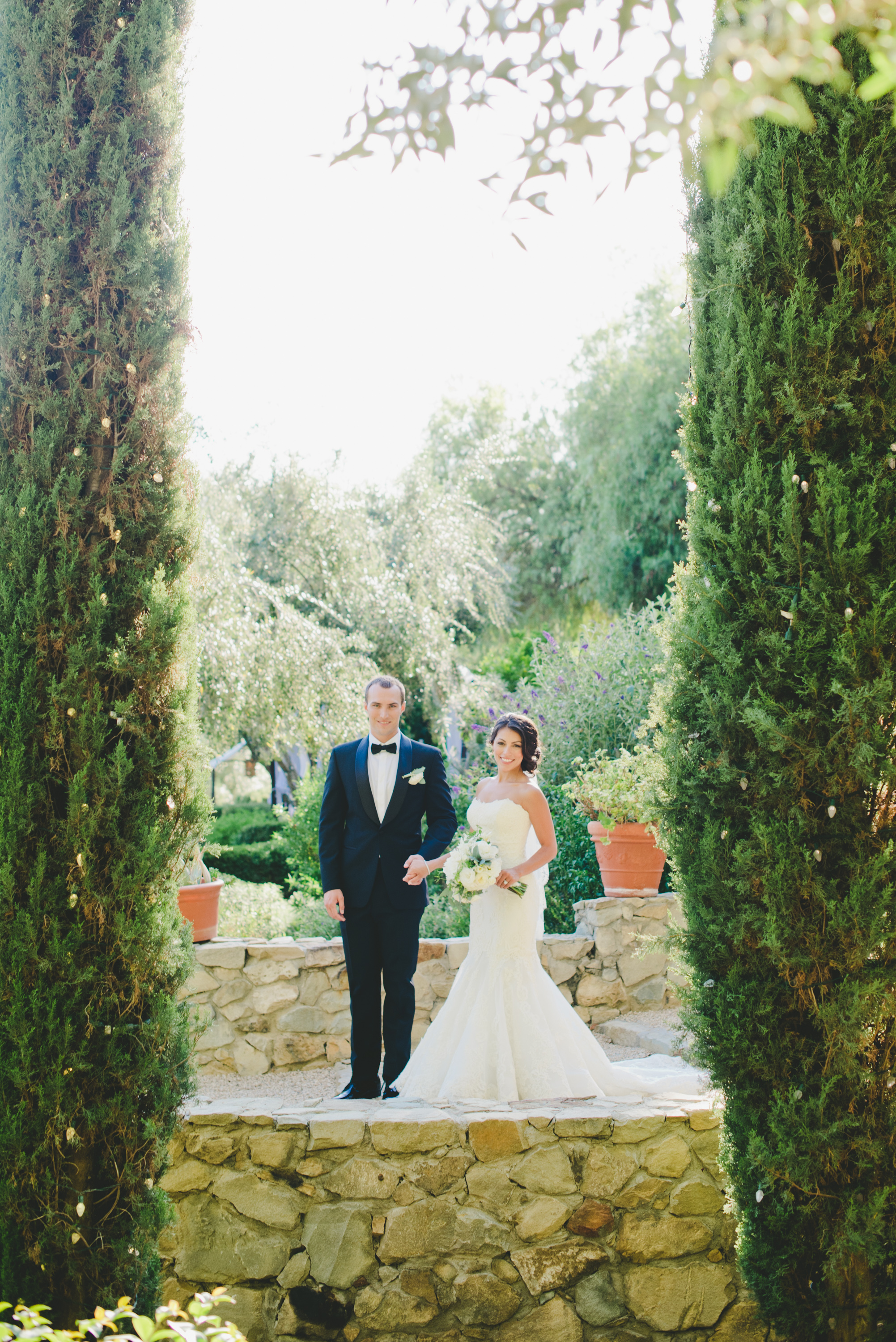 Ojai Valley Inn bride and groom