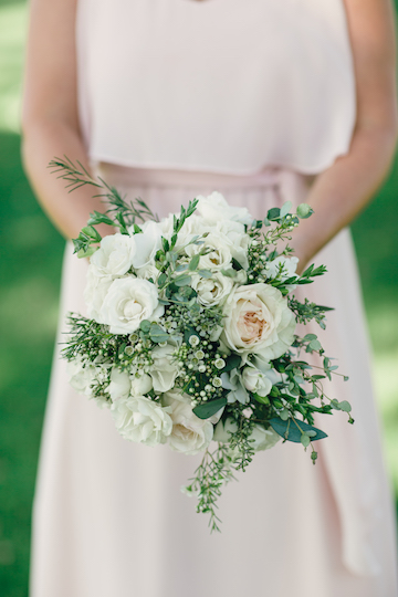 White Textural Bridesmaids Bouquet
