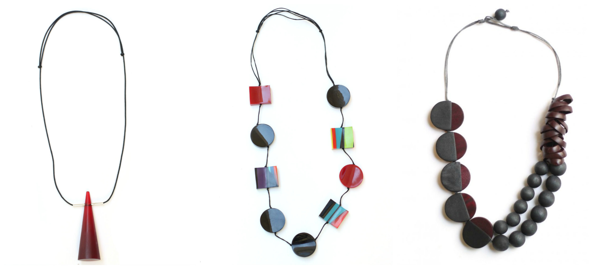 Along with beaded tassel necklaces, these diverse necklaces ( left ,  middle ,  right ) bring a sense of Cuban identity into a practical piece. Unique colors, textures, and designs can be traced back to the flare seen in Cuban jewelry. Pair with our other inspired pieces or wear separately to bring bit of spunk into your wardrobe!
