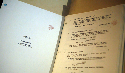 Screenplay for the 1986 film  Round Midnight  at the Dexter Gordon Collection acquisition ceremony at  Library of Congress in Washington, D.C,  2010. Gordon received the Academy Award nomination for Best Actor.