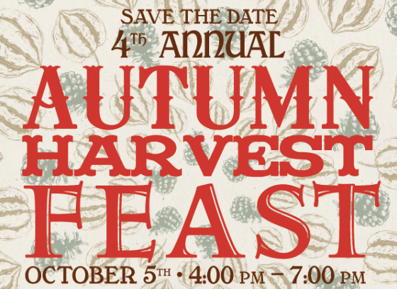 The 4th Annual Autumn Harvest Feast is just around the corner!  And this year's feast will blow past years out of the water with  more  chefs,  more  local food purveyors,  and  one incredible special guest speaker -  Michel Nischan, the founder of Wholesome Wave !    Share a family style Sunday dinner on  Sunday, October 5  with music and a silent auction alongside your favorite local farmers, artisans, chefs, and friends. Over 20 of Athens' finest local chefs plus food & drink purveyors will prepare for you a truly amazing meal featuring locally produced ingredients sourced from the Athens Farmers Market.    The evening directly benefits   Wholesome Wave Georgia  , the program started by Michel Nischan that sponsors the Athens Farmers Market's Double SNAP Incentive Program. In operation since 2010, this program has made immediate increases in the access to local, sustainable, and wholesome food for nutrition assistance recipients by doubling the value of SNAP dollars at the Athens Farmers Market. Buy a ticket and help ensure the sustainability of this important community building program!      FOOD & DRINK PROVIDED BY   Jason Zygmont - Five & Ten  Whitney Otawka - Cinco y Diez  Salvador Speights - Heirloom Cafe  Mimi Maumus - home.made catering  Lindsey Payne - Lindsey's Culinary Market  Sarah Dunning - Little & Saturday Supper Club  Patrick Stubbers - Seabear Oyster Bar  Josh Aaron - The Savory Spoon  Shae Rehmel - home.made catering  Aaron Phillips - The Last Resort Grill  Chuck Ramsey - Pulaski Heights BBQ  Matthew Palmerlee - The Branded Butcher  Peter Dale - The National  Jacqueline Burton - The Pine  BJ Bracewell - The Rooftop at The Georgia Theatre  Jarad Blanton - The World Famous  Janice Witcher - Harry's BBQ  Gaby Lindsey - VIVA!  Angel Cooper - The Comerian  Carole Brucato - Backyard Bread  Jennie De La Vega - Mama Bird's Granola  Candace Holder - Rabbit Food  Anna Ramiah - Sanvi's Sweets and Savories  Zouheir Abou-harb - The Sultan  Matt McFerron - The