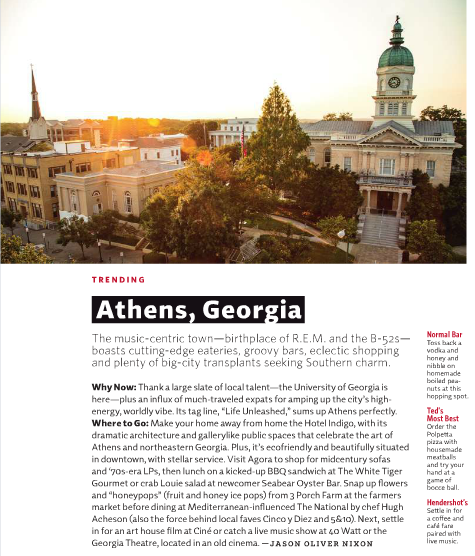 Next time you're flying Delta, check out Athens with a view from the top…     On any given night we'd be thrilled to find ourselves at any of these places. From cocktails and snacks at Seabear Oyster Bar to a casual yet refined dinner at The National to a night cap at the Normal Bar, who wouldn't!    View the full article on  Page 22 at http://msp.imirus.com/Mpowered/book/vds2014/i9/p1