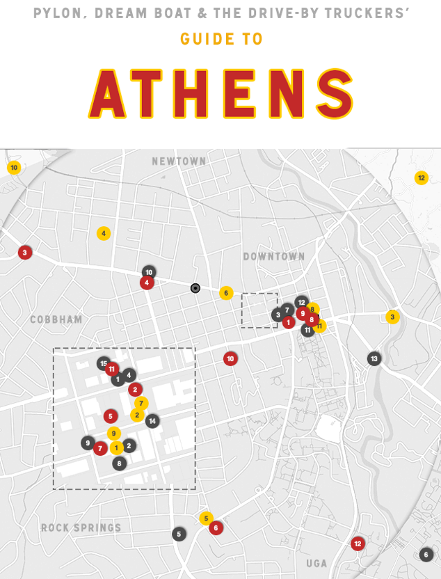 "In a town like Athens, music is king. It seems only reasonable that the musicians that inhabit this town would have the best insight into where to spends the lazy days of summer.      In one of the best guides we've seen,   The Noisey Blog by Vice   asks members of Dream Boat, Pylon, and The Drive-By Truckers to share their favorite haunts around the Classic City.     Of The National, Patterson Hood says it's ""my favorite higher end place to eat in town. Excellent farm to table cuisine by star Chef Peter Dale partnering with award winning Chef Hugh Acheson, one of our two shining stars that have recently put our small town on the international food map of hot destinations."" And don't discount the bar either…""a great higher end cocktail and wine bar attached to one of the best restaurants in the South (or anywhere).""     For the full guide, visit  The Noisey Blog ."