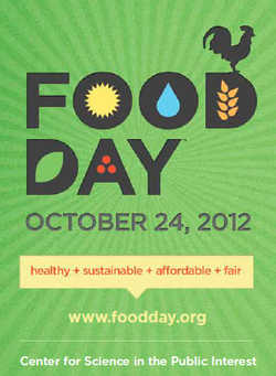 Food Day  at the City Hall Athens Farmers Market   (Washington Street & College Avenue)  Wednesday, October 24  4 - 7pm      Food Day  is a day of national action designed to strengthen and unify the food movement in order to improve our nation's food policies. On this day we'll enjoy fun, family-friendly activities in a setting that epitomizes our strong local food community–The Athens Farmers Market.      Food Day  is also the world premiere of the new film   Food Mythbusters   . There are some interesting ideas presented in this documentary aiming to debunks the claim that factory farms, chemical-intensive agriculture, and genetically engineered crops are the solution to the world's food needs. Check out the trailer  here       Events at the Athens Farmers Market Food Day      HOMETOWN THROWDOWN Cooking Competition   Home cooks battle Athens' finest chefs with market produce as their inspiration in an Iron Chef-style competition. Mixed doubles - one home cook and one restaurant cook each on a team - starring  Nathan Brand of The National , Aaron Phillips of the Last Resort, Zachary Burgess from Our Daily Bread, and others.     Five for Food Day Auction   Buy 5 different products from our market growers and you'll be eligible for a $50 market gift certificate, free tote bags and bus passes, a Gift Certificate to Farm 255, and more. Eat your fruits and veggies!     Family Activites  including face painting and live music!       Food Day Athens is brought to you by the Athens Farmers Market, Farm 255, Slow Food Greater Athens, and Action Ministries.