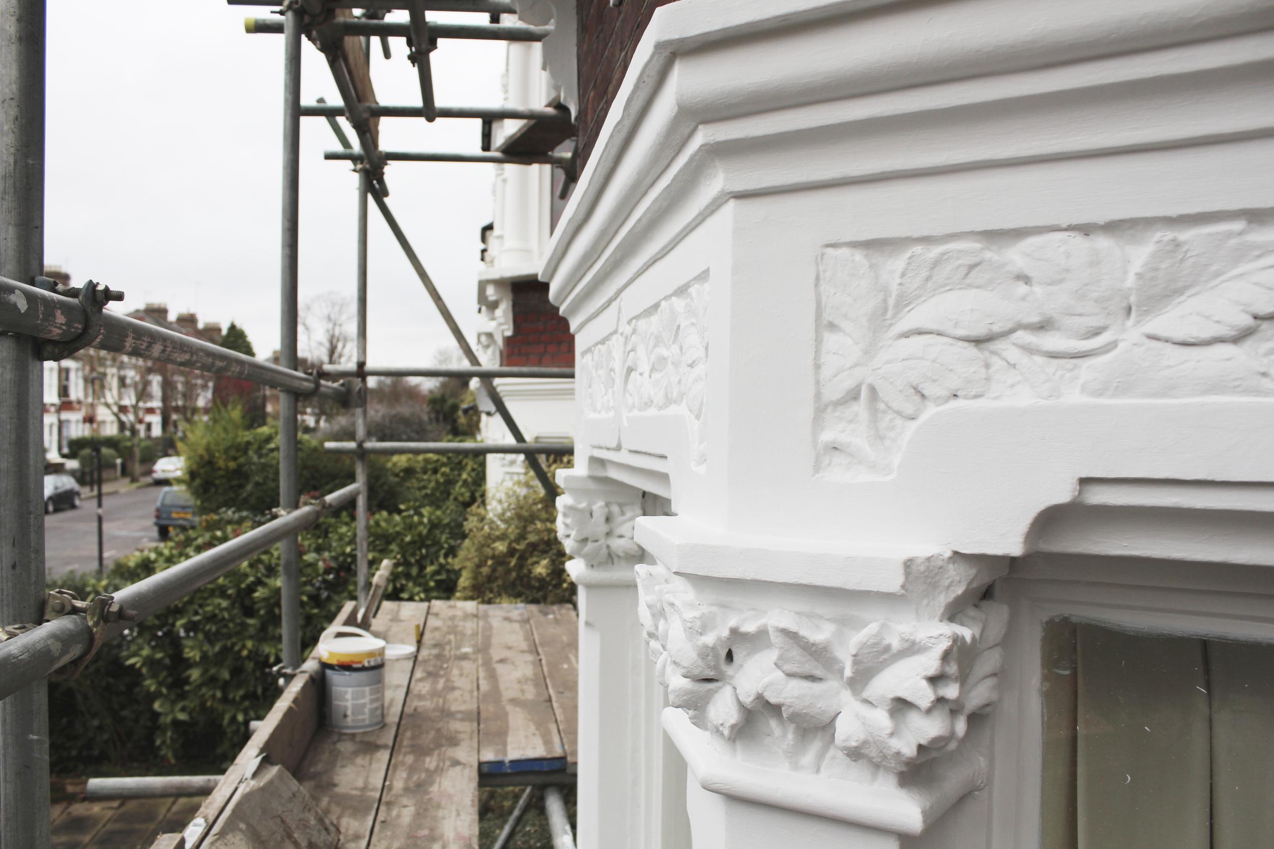 #NHRenovations #Painter #Decorator #London #TufnellPark #Exterior #Victorian #Sash #Windows #Prepwork
