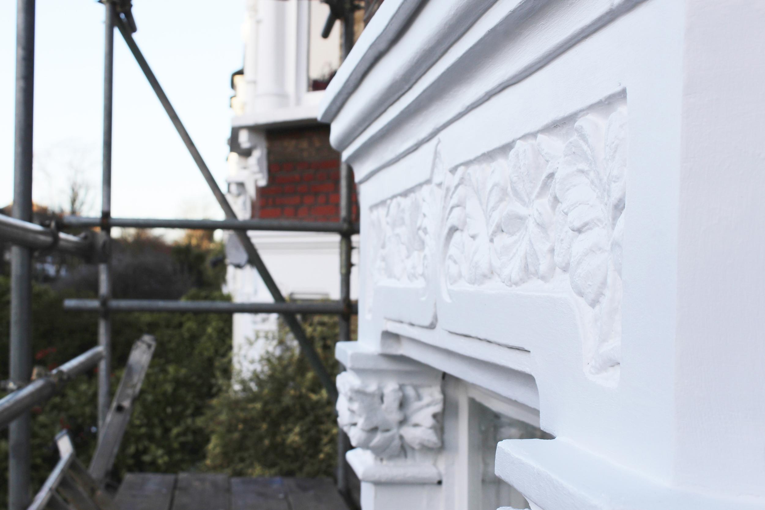 #NHRenovations #Painter #Decorator #London #TufnellPark #Exterior #Victorian #Sash #Windows #Sandtex #White #Masonry
