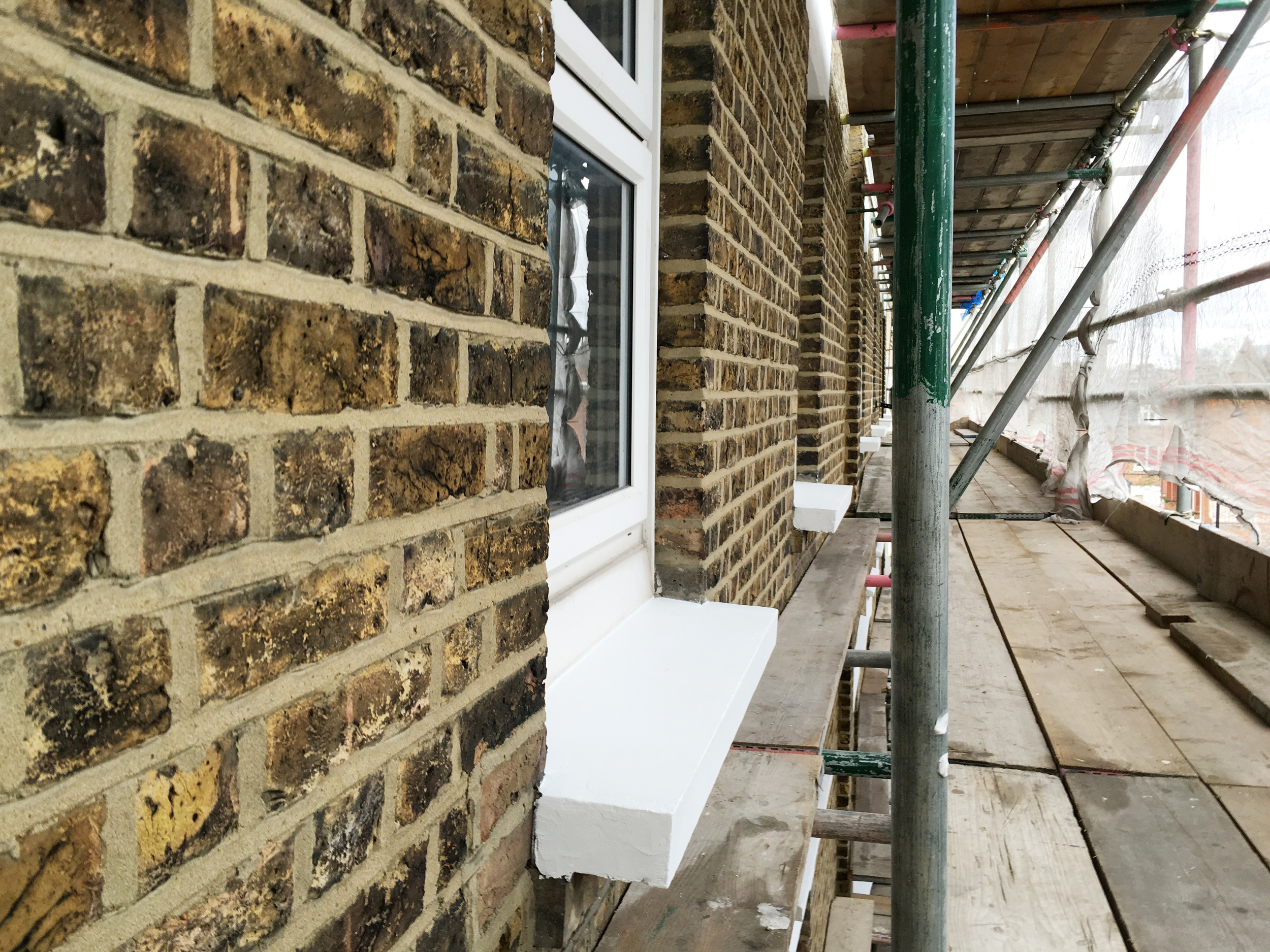 #NHRenovations #Painter #Decorator #London #BroadhurstGardens #Westhampstead #Scaffolding #Dulux #Weathershield #Windowsill #Commercial #Exterior #Building