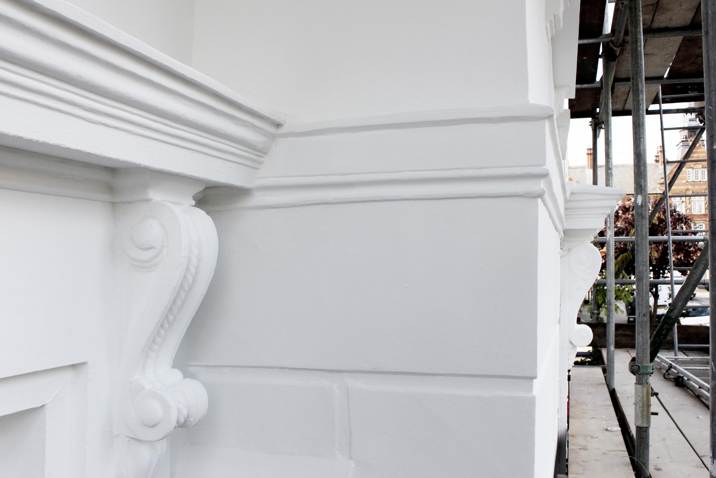 #NHRenovations #Painter #Decorator #London #Kentishtown #Kentish #Listedbuilding #Windows #Masonry #Limeplaster #Keim #Keimminerals #Scrolls #Exterior #Building #Finishedcoat #Beautiful
