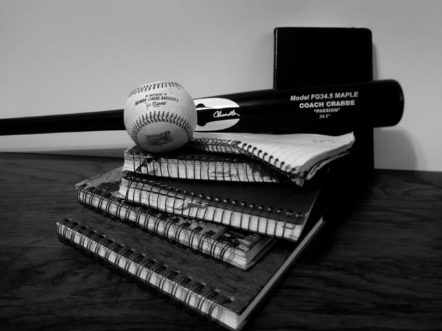 Baseball bat and journals