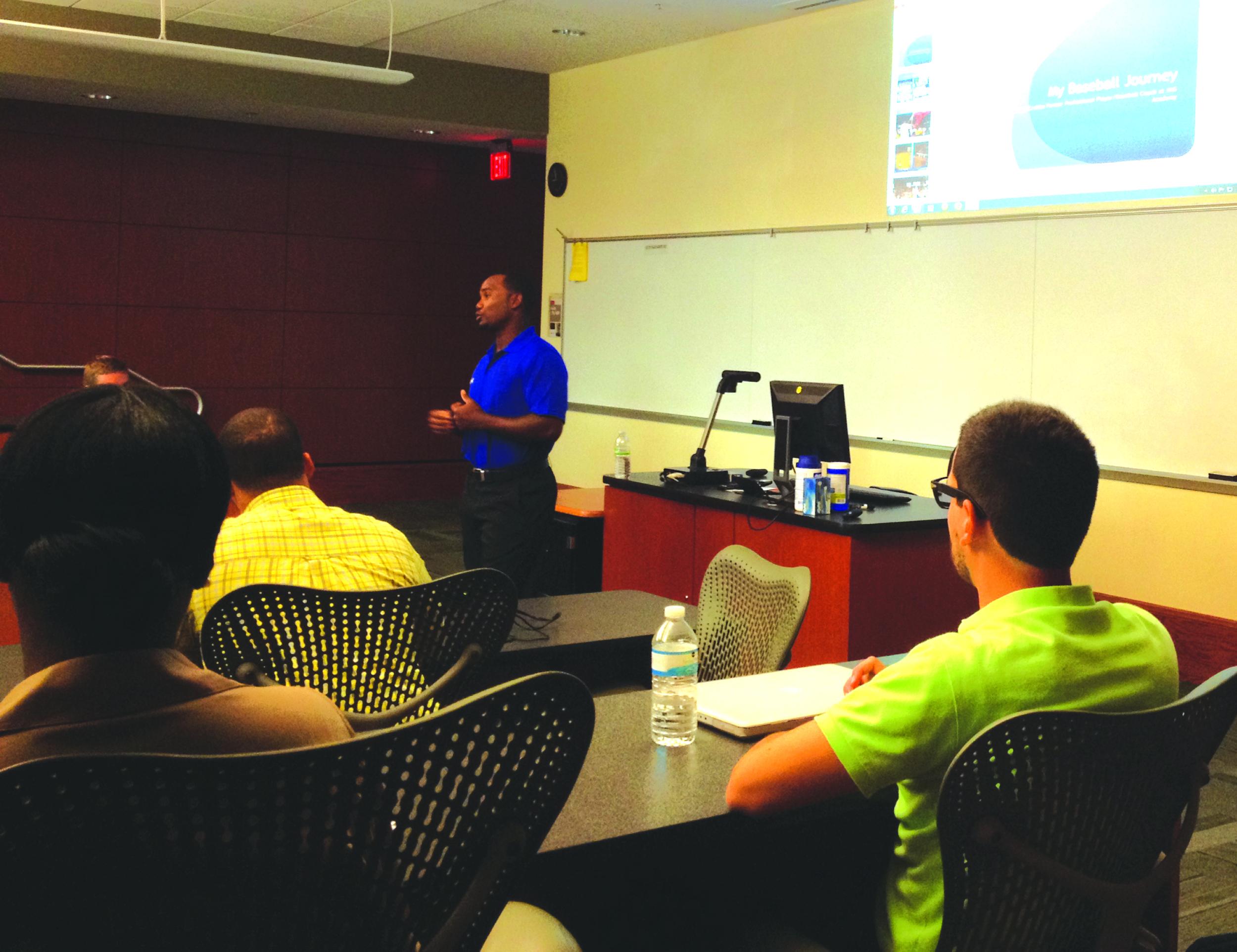 Callix Crabbe teaches personal development
