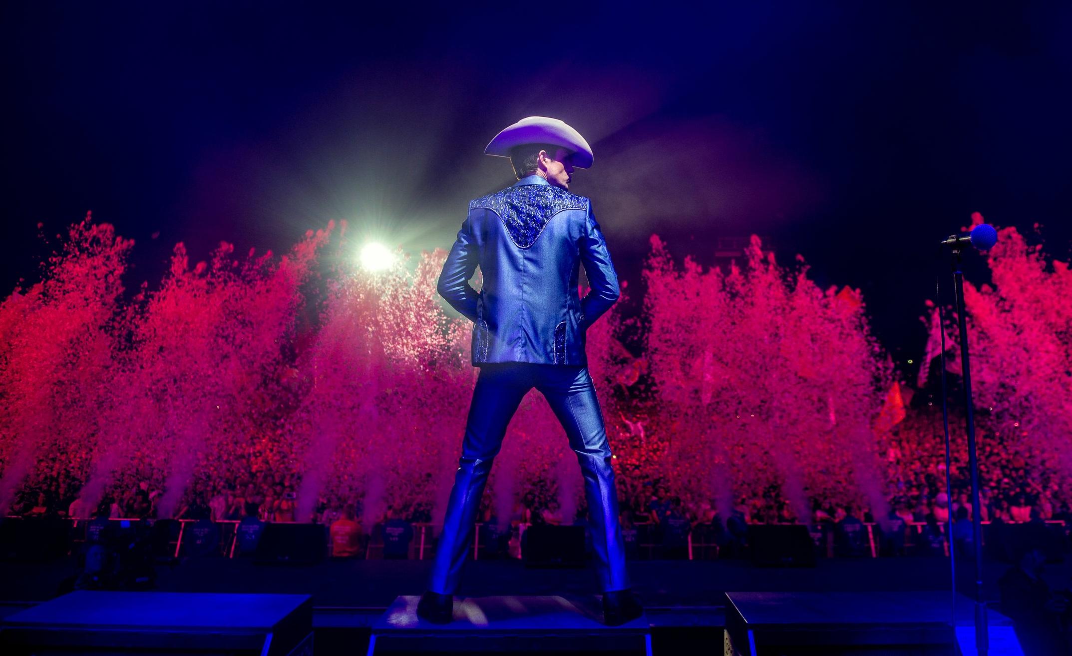 PRINT SALE: Brandon during The Killers headline Glastonbury set, 2019