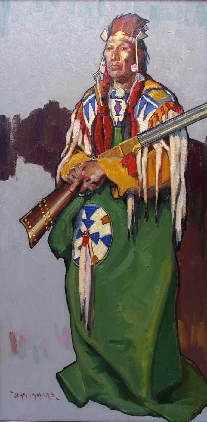 Blackfeet Man With Henry Rifle