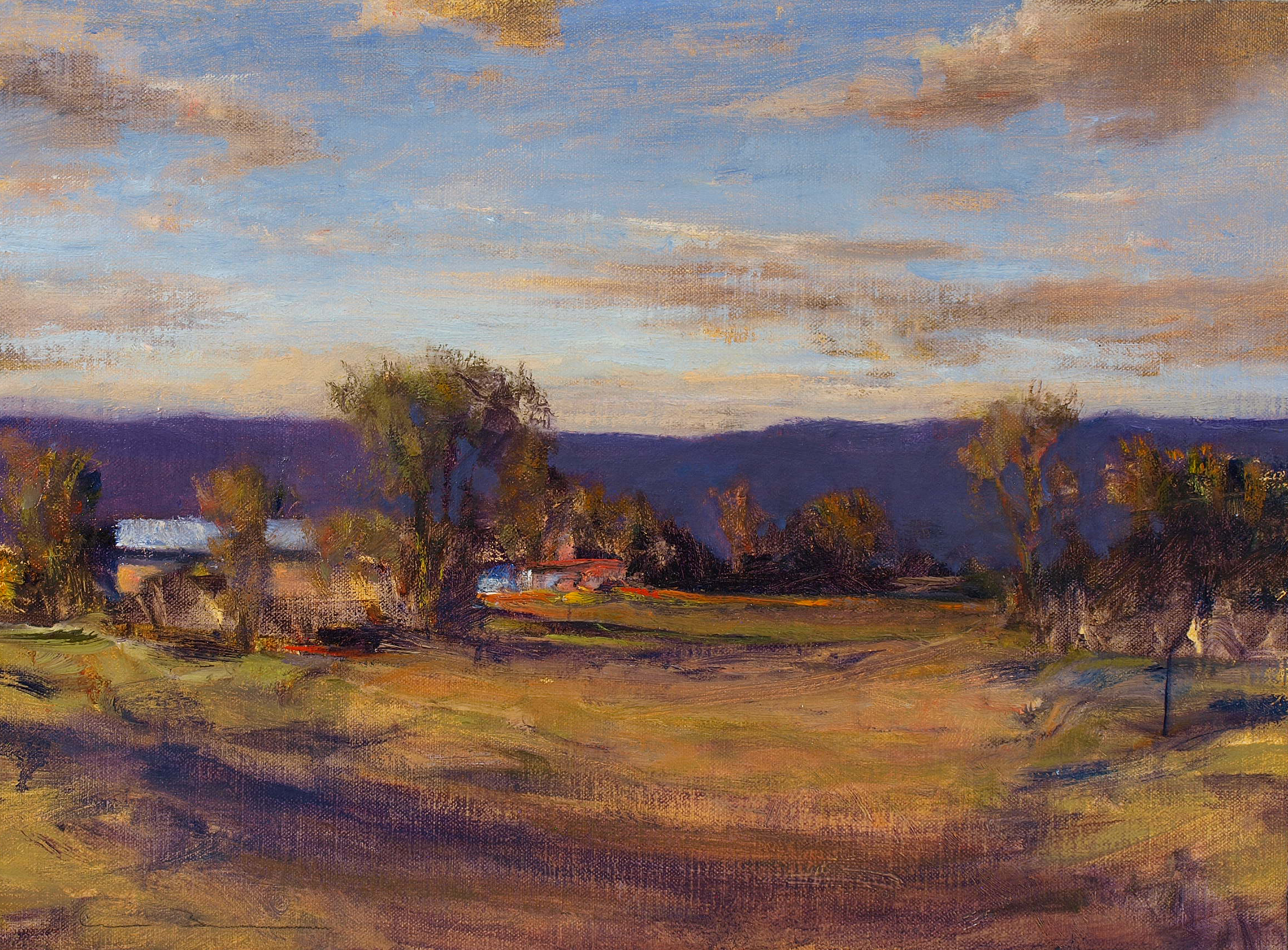 """South of Galisteo  Oil on linen 12"""" x 16"""""""