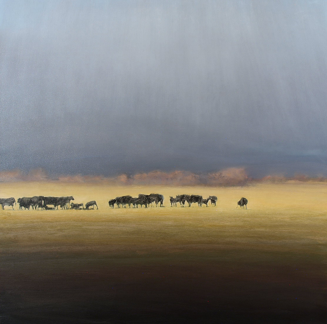 """Spring Pasture  Oil on linen 40"""" x 40"""""""