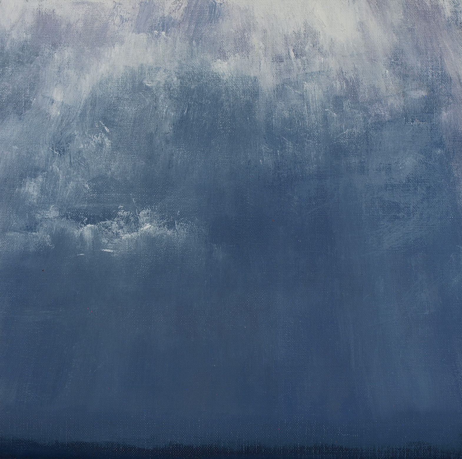 "August Cloud Study 1  Oil on metal leaf 8"" x 10"""