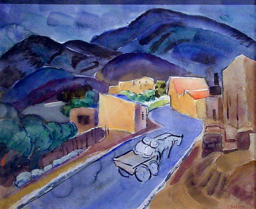 Blue Mountains, Adobe Houses, New Mexico