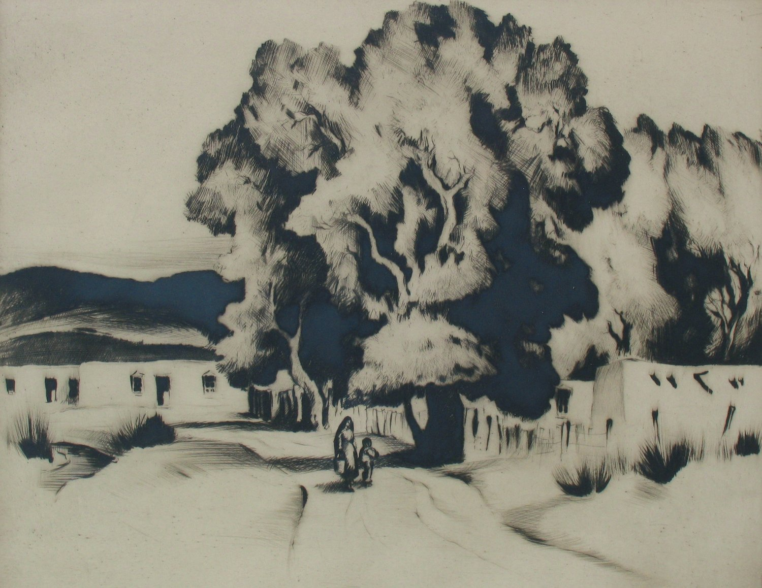 Summer Cottonwoods , 1935, drypoint, 5 7/8 x 7 3/8 inches, ed. of 20