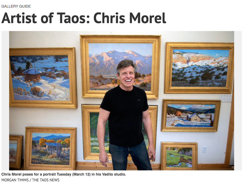 Chris Morel in the    The Taos News.