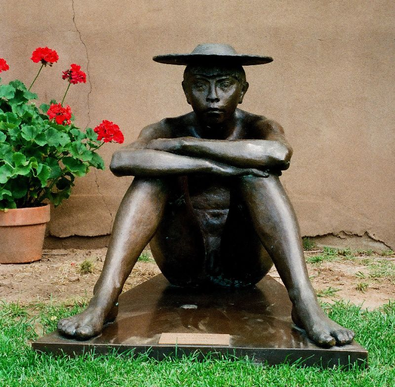 "Francisco Zúñiga,  El Pastorcillo , bronze, 30"" x 30"" x 38"", edition of 4"