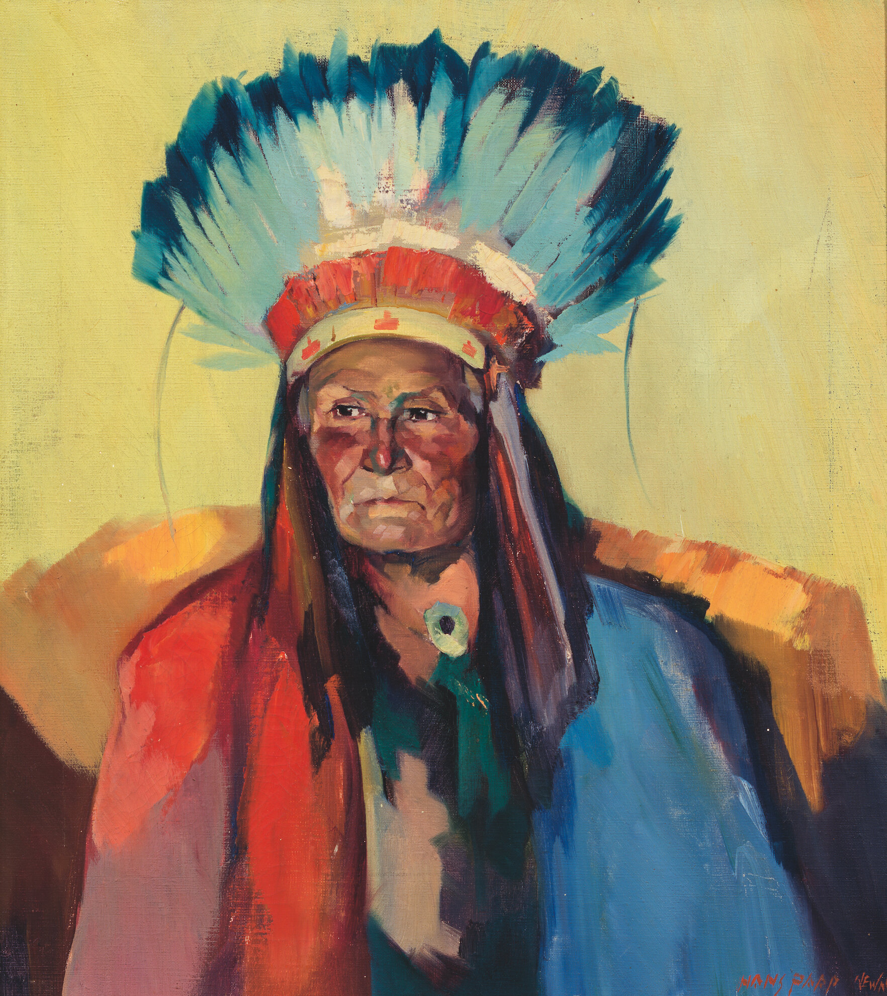 Portrait of Indian Chief