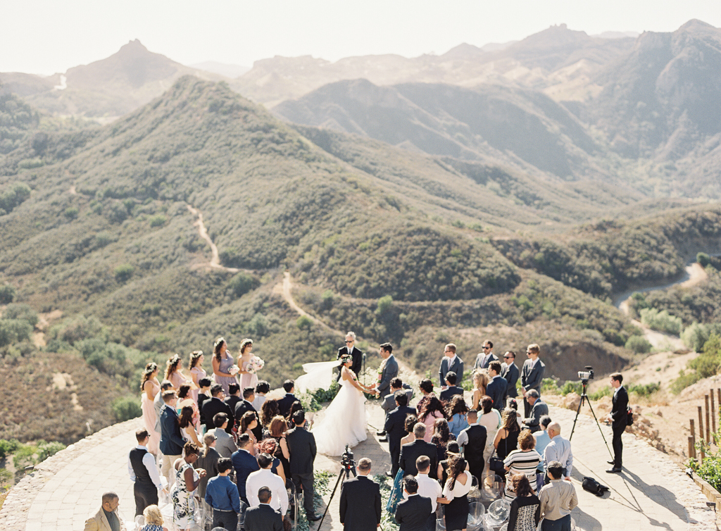 Hilltop Ceremony in Malibu with Scenic Overlook