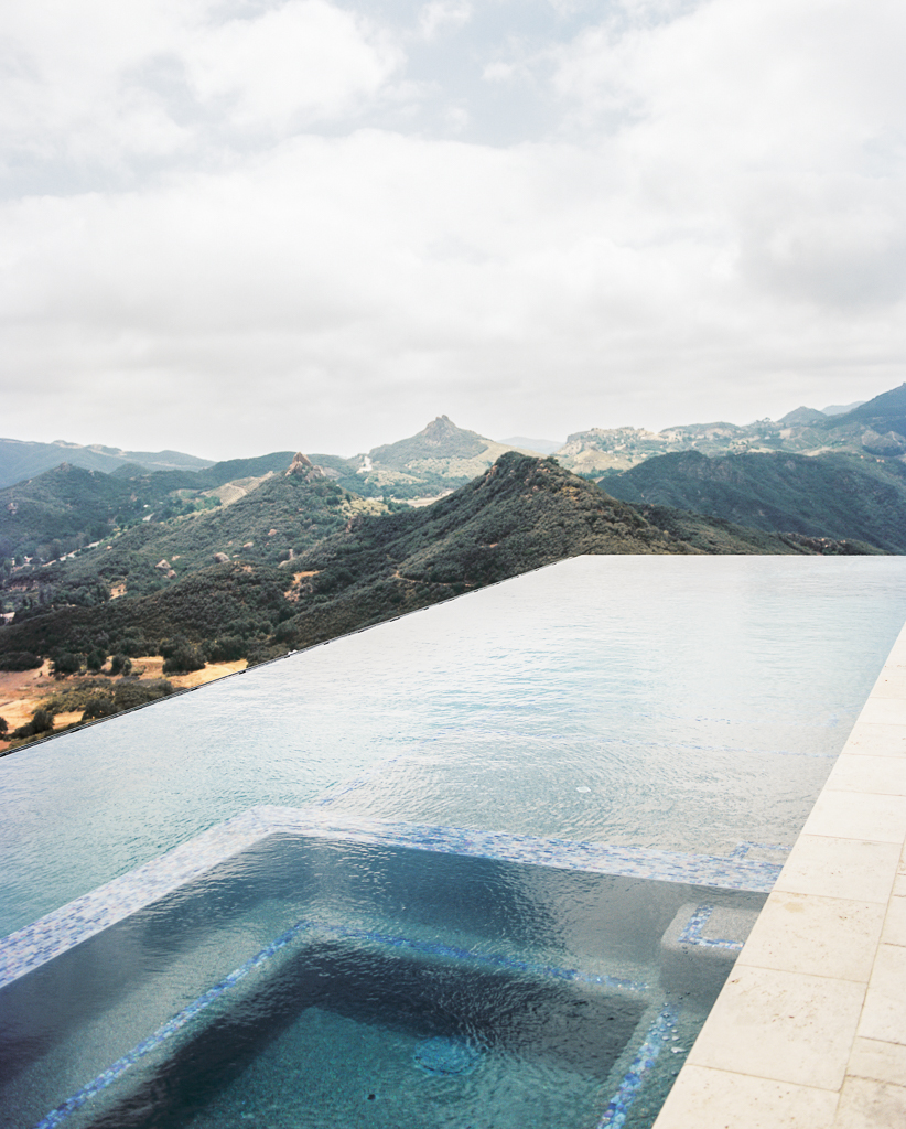 Infinity pool at Hilltop Wedding Venue