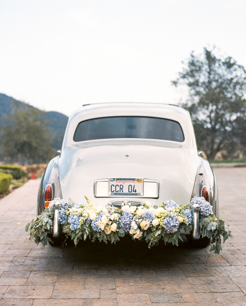 Flower Adorned Luxury Wedding Car