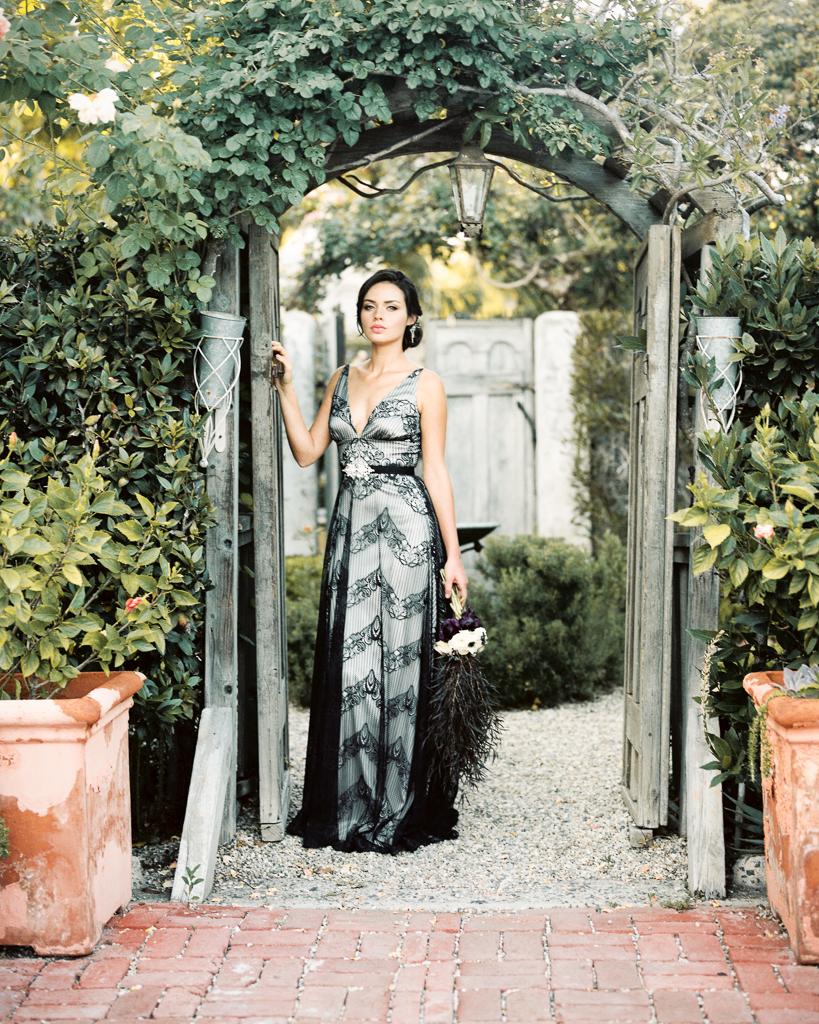Anti Wedding Dress Claire Pettibone Black and Grey Bridal Gown