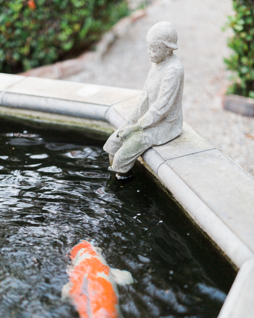 Garden Wedding Fountain Koi