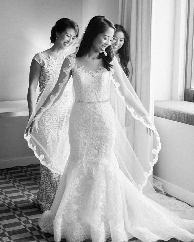 Bride dressed with Mom and Sister Estate on Second Wedding.jpg