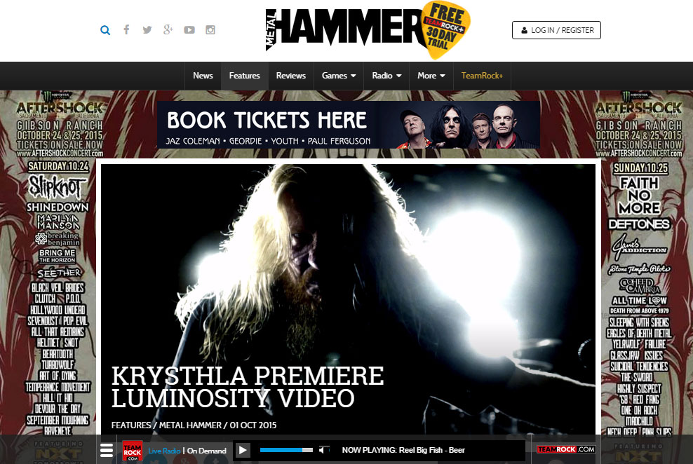 "Exclusive: Watch the new video from Krysthla    ""Krysthla have just delivered Metal Hammer a solid slab of heavy metal and allowed us to share it onto the world.  Speaking to Hammer about new track  Luminosity , taken from debut album  A War Of Souls And Desires , guitarist Neil Hudson gave this deep, cryptic response.  ""It's important to educate our progeny properly in a world where technology and knowledge is so readily available but we are also so easily kept in the dark,"" he says. ""Future generations carry the burden of the last few decades of greed and corruption on their shoulders.  It's time to shed light upon the darkness."""