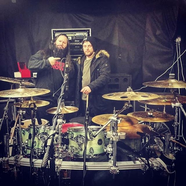 "Album Number Three Update! 🤘Neil checks in: ""Wrapped up the drums for Krysthla album no 3 today!!! Liam smashed the sessions and his kit sounded magnificent!! Unbelievably excited to finish the record now and hit the road with the new material.  Bass next!!!!"" #Newalbum #ExtremeMetal #Drummer #Drums #HeavyMetal 🧨💥"